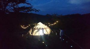 グランピングテント 夜の演出 装飾ツール