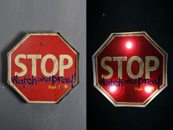 壁装飾「STOP」